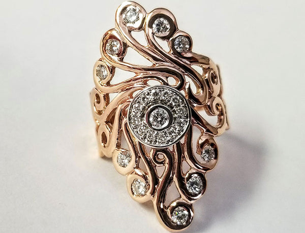 Gold Flames Ring