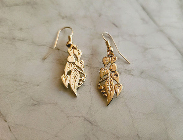Garland of Leaves Earrings