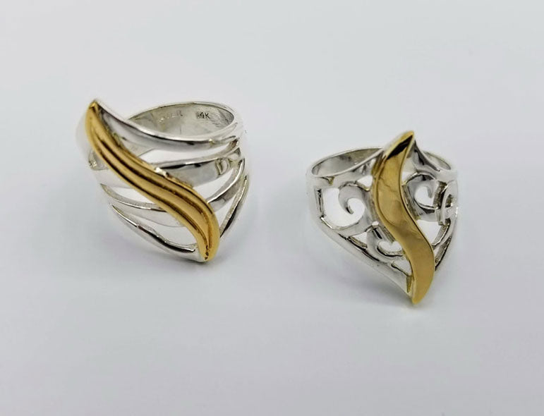 Gold Combination Rings