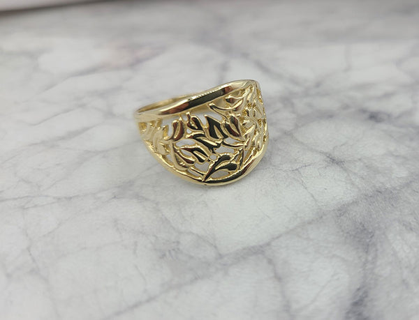Leaves and Waves Ring