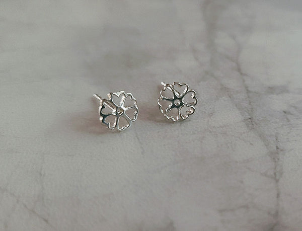Open Hearts and Clover Earring