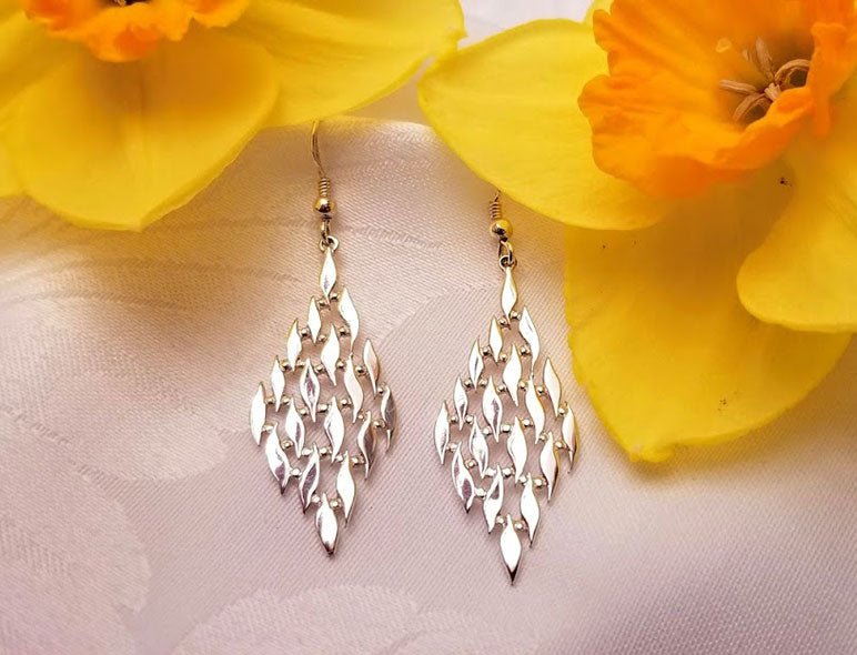Silver Flame Earrings