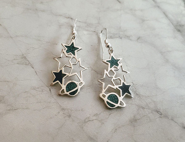 Stars and Planets Earrings
