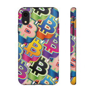 Bitcoin Pop Art Phone Hard Cases
