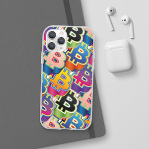 Bitcoin Pop Art Phone Flexible Cases