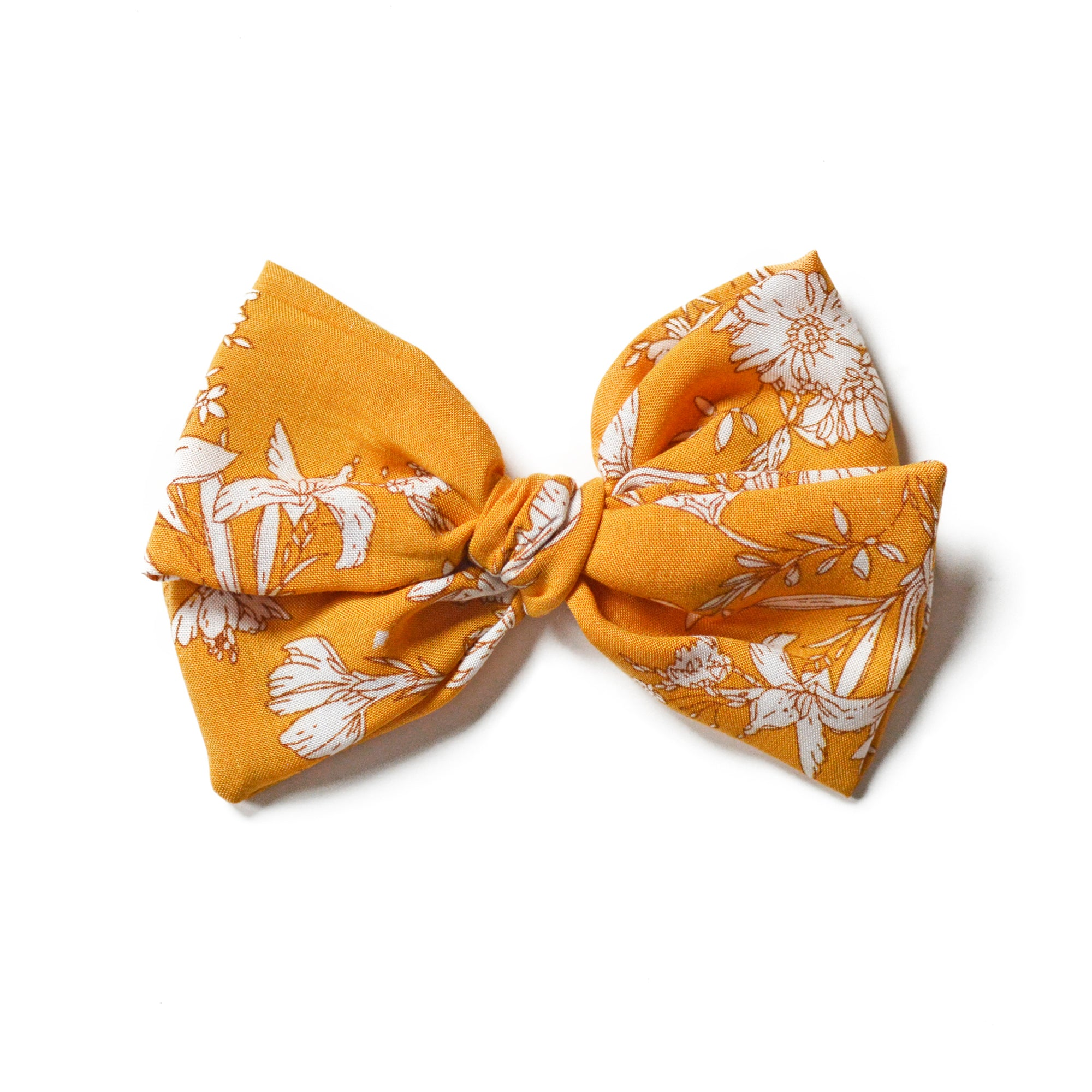 Ginger Floral Classic Hair Bow - GenBow™