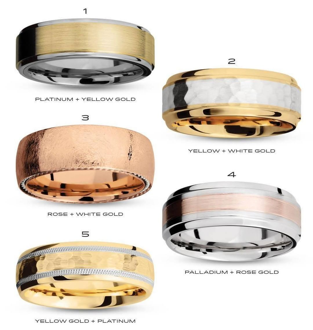 Men's Wedding Band with Diamonds that are Unique because of their combinations