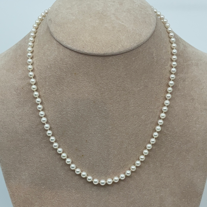 "16"" 4-4.5mm Akoya Pearl Necklace"