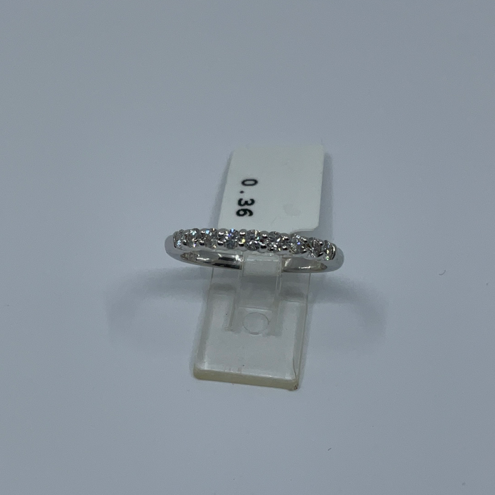 14kt White Gold 9 Diamond anniversary band .33ctw