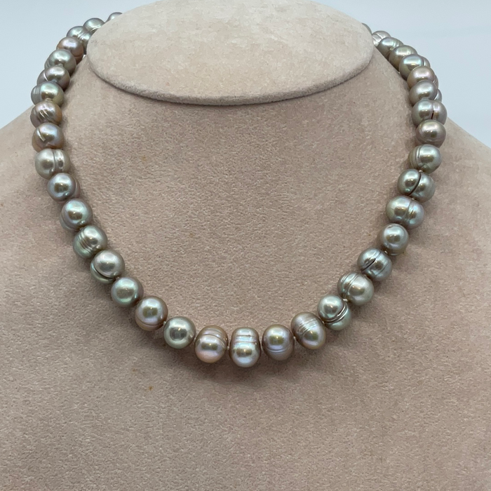 "15"" 9mm FW Golden Pearl Necklace"