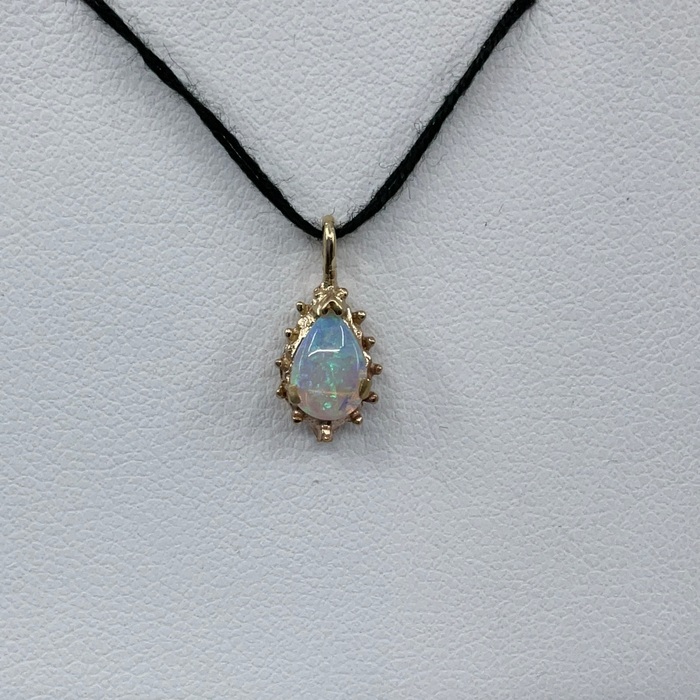 14kt Yellow Gold pear shaped Opal pendant