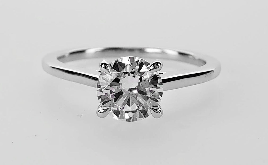 Cathedral solitaire mounting to hold a 1ct round stone