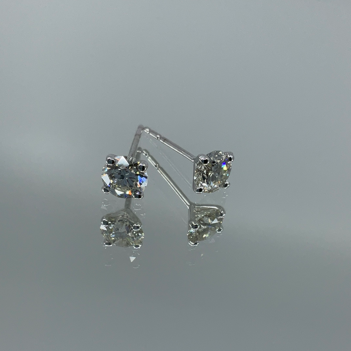 14kt White Gold 1.15ctw JK SI diamond stud earrings