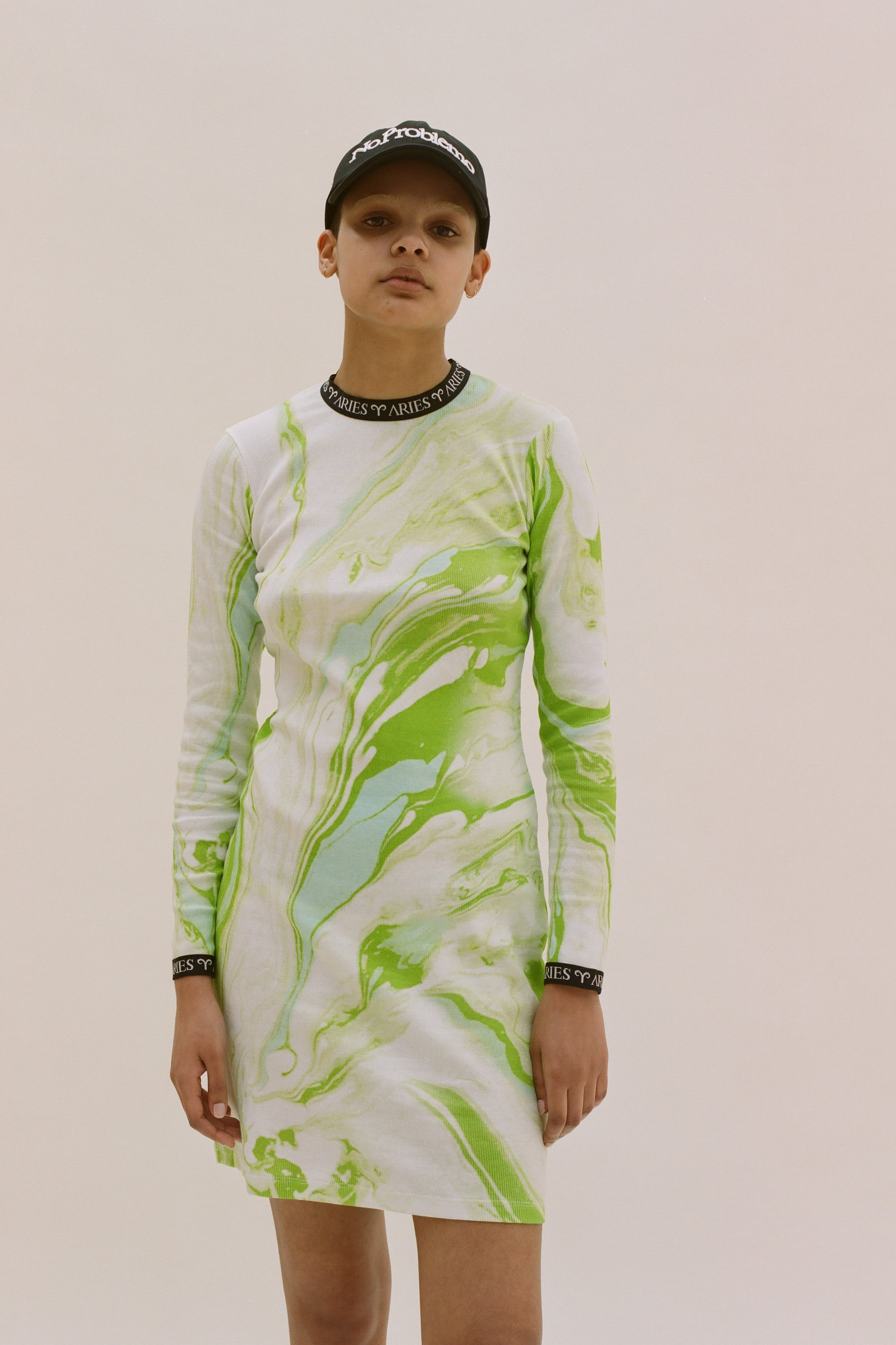 Load image into Gallery viewer, Marble Print Long Sleeve Dress