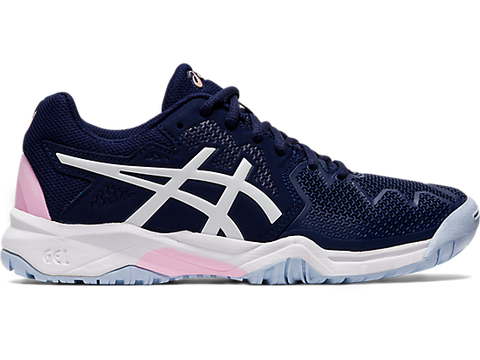 ASICS Gel Resolution 8  GS Tennis Shoe (Junior)- Peacoat / Cotton Candy