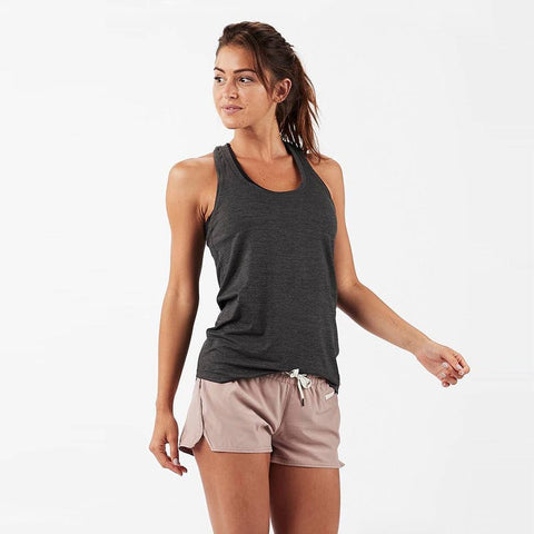 VUORI Lux Performance Tank- Charcoal Heather