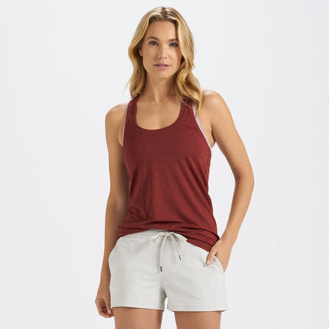 VUORI Lux Performance Tank- Cerise Heather
