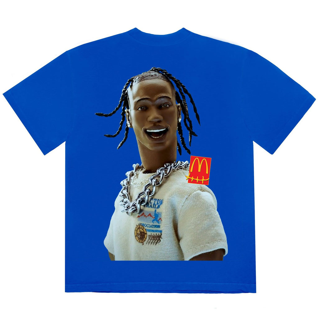 Travis Scott x McDonald's Action Figure Series T-Shirt III Blue
