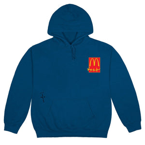 Travis Scott x McDonald's Sticker Blue Hoodie