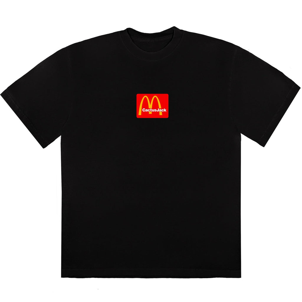 Travis Scott x McDonald's Box Logo Cactus Jack Sesame Black T-Shirt