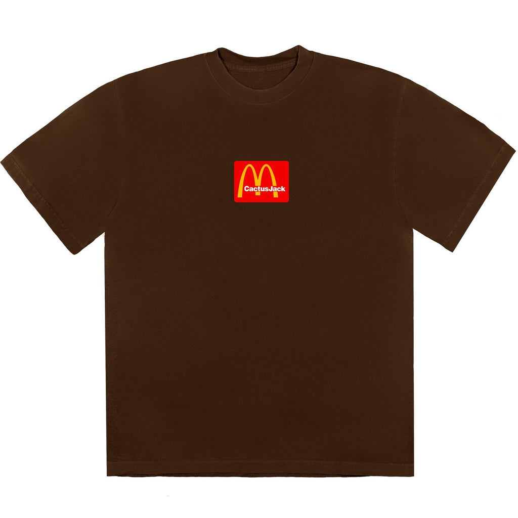 Travis Scott x McDonald's Box Logo Cactus Jack Sesame Brown T-Shirt