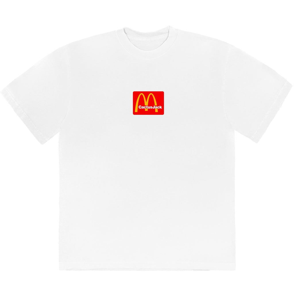 Travis Scott x McDonald's Box Logo Cactus Jack Sesame White T-Shirt