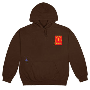 Travis Scott x McDonald's Sticker Brown Hoodie