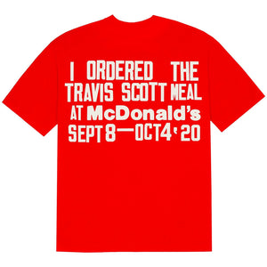 Travis Scott x McDonald's Cactus Plant Flea Market Burger Mouth Red T-Shirt