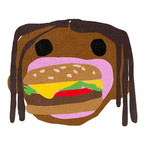 Travis Scott x McDonald's CPFM 4 Cactus Jack Burger Mouth Rug