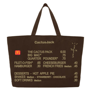 Travis Scott x McDonald's Cactus Jack Menu Tote