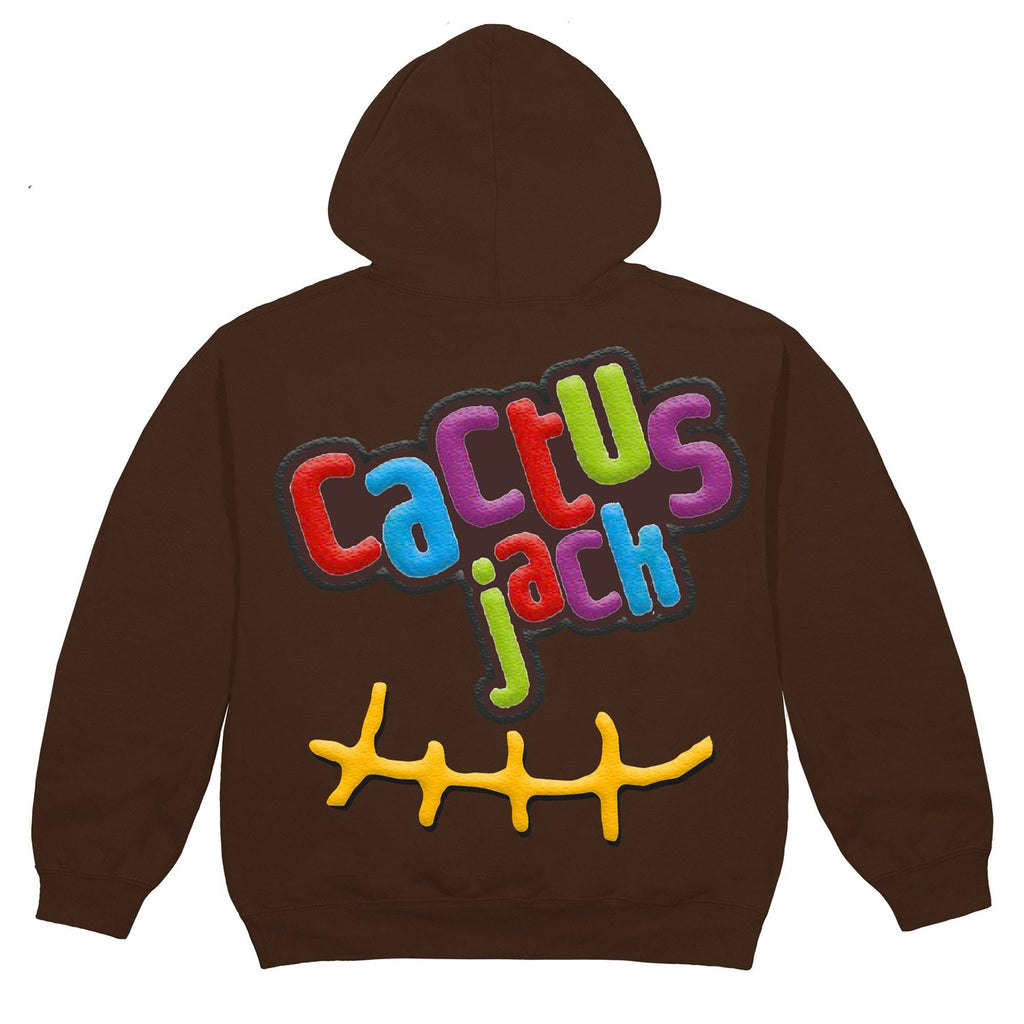 Travis Scott x McDonald's Cactus Jack Smile Brown Hoodie