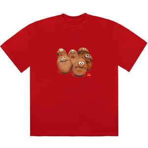Travis Scott McDonald's McNugget Squad Red T-Shirt