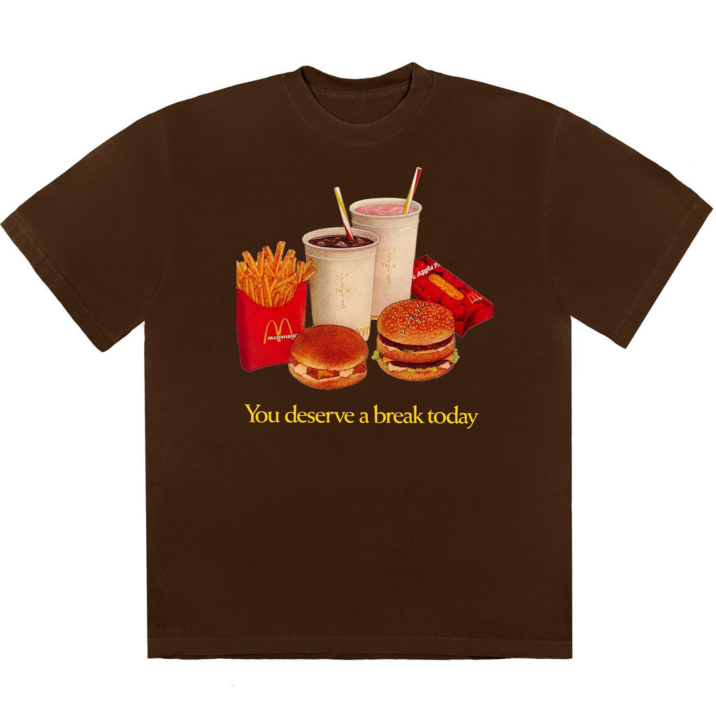 Travis Scott x McDonald's Deserve A Break Brown T-Shirt