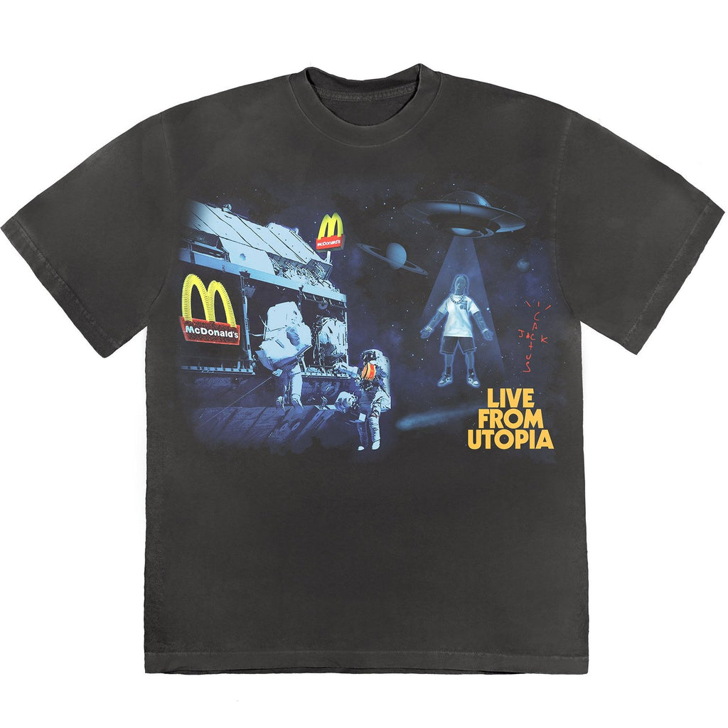 Travis Scott x McDonald's Live From Utopia T-Shirt