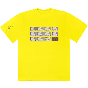 Travis Scott x McDonald's Menu Mono Logo Yellow T-Shirt