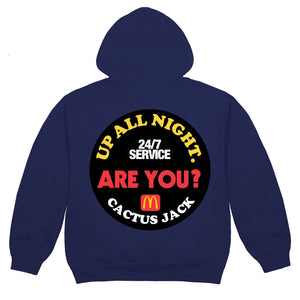 Travis Scott x McDonald's Sticker Up All Night Navy Hoodie