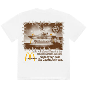 Travis Scott McDonald's Vintage Action White T-Shirt