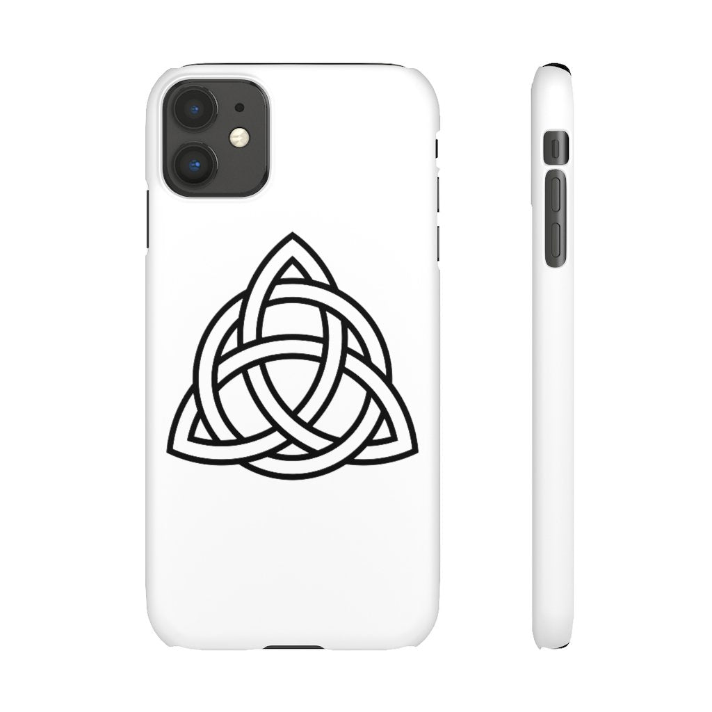 White Triquetra Phone Case - Project 369