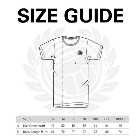 Size Guide Old School FC T-Shirts
