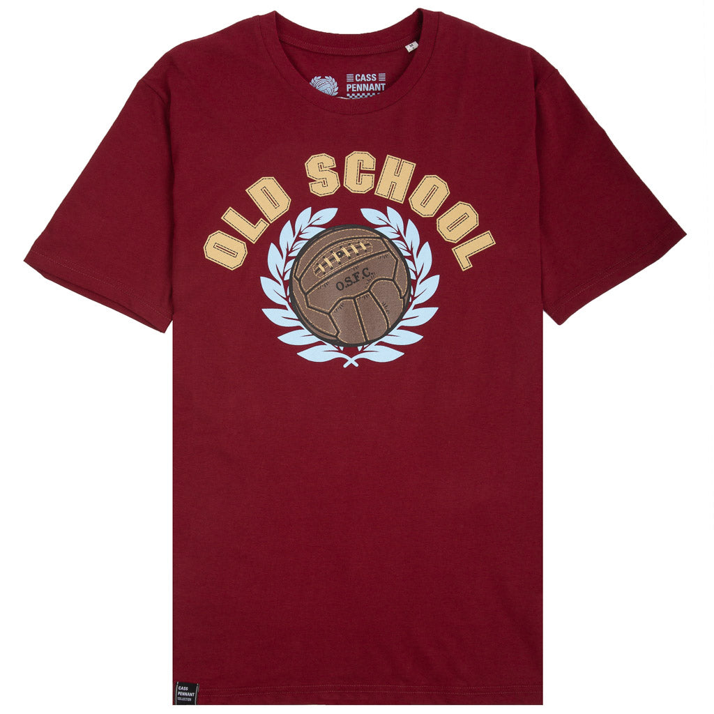 Old School T-Shirt - claret