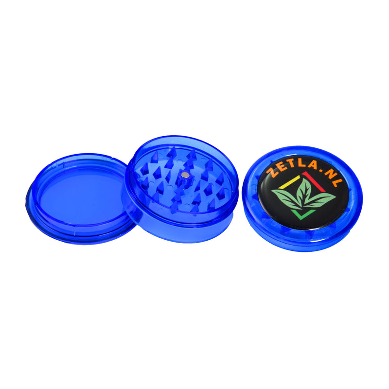 Plastic Grinders With Zetla Logo 3 Parts ( 55mm) Per 1 Pcs