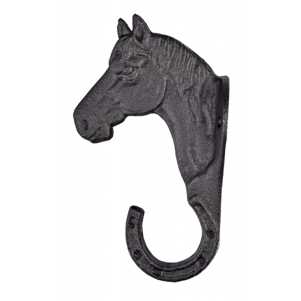 Cast iron horsehead bridle hook