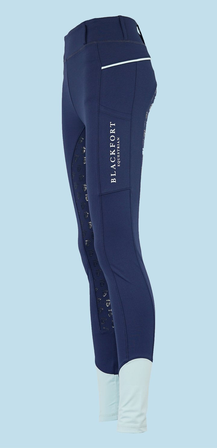 Blackfort Equestrian Navy Riding Tights - Celeste