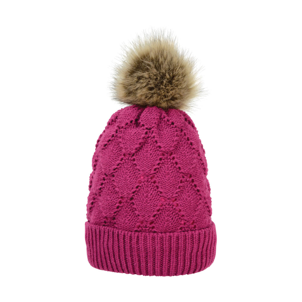 Hyfashion Saskatoon Knitted Bobble Hat
