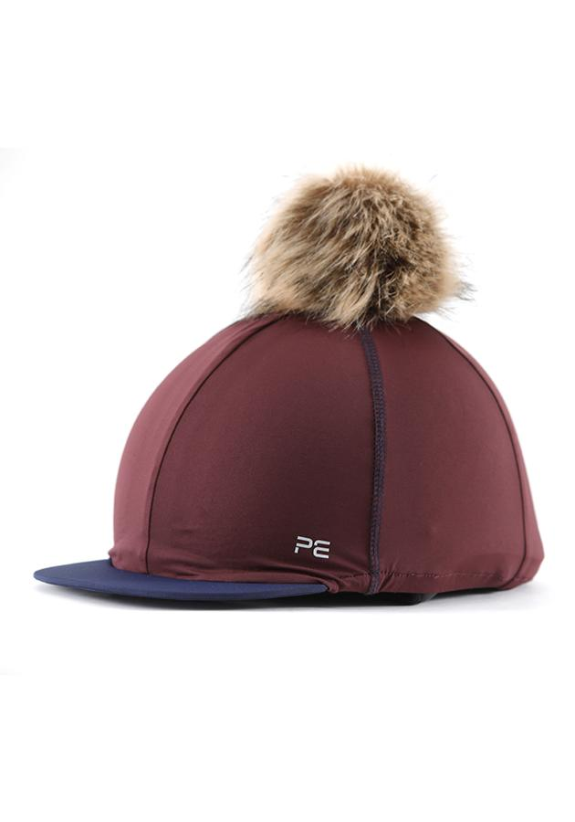 Premier Equine Jersey Hat Silk With Faux Fur Pom Pom