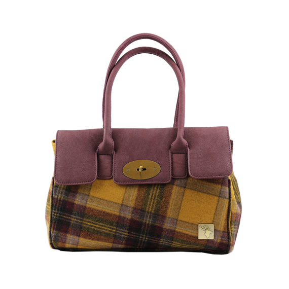 Classic Handbag In Mustard Tweed