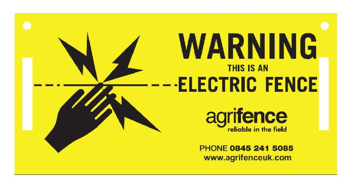 Agrifence Warning Signs 5 Pack