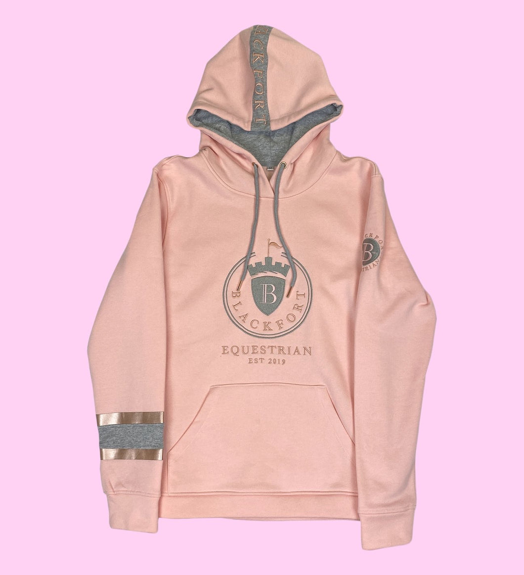 Blackfort Equestrian Hoodie - Light Pink / Rose Gold