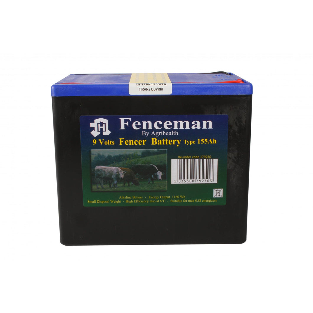 Fenceman Battery - 9V 155Ah Alkaline