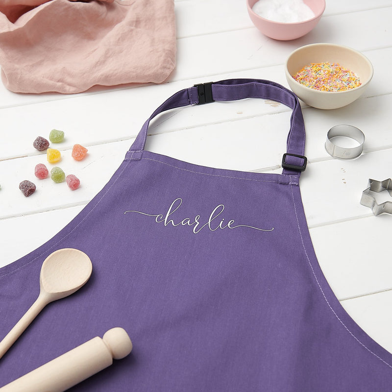 Personalised kids cooking apron
